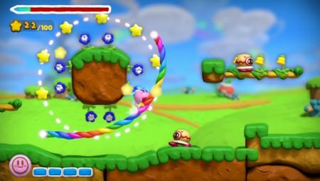 Kirby and the Rainbow Paintbrush screenshot